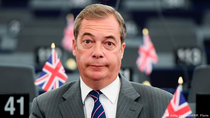 Nigel Farage sitting in the European Parliament in Strasbourg on June 14, 2017 (Getty Images/AFP/F. Florin)