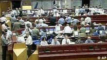 View of the trade floor at the German Stock Exchange in Frankfurt/Main, Germany, Wednesday, May 3, 2000. The London and Frankfurt stock exchange have agreed to merge, creating Europe's largest stock market and a powerful regional counterweight to Wall Street, the London Stock Exchange announced, Wednesday.