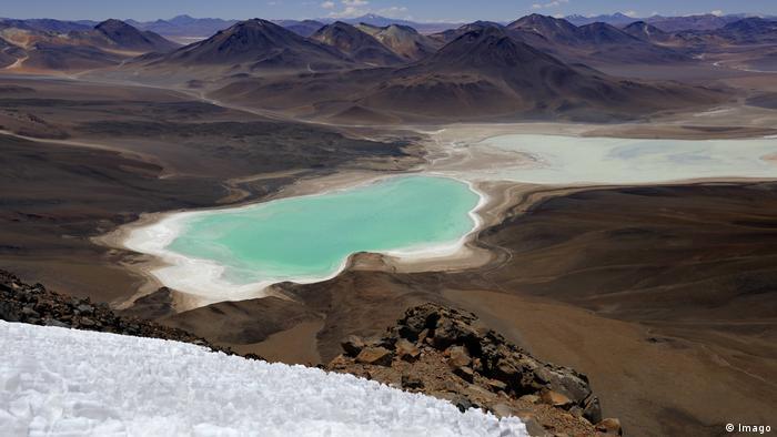 Laguna Verde en Bolivia.