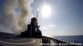 Russia's sea-launched Kalibr cruise missile (Reuters/Russian Defence Ministry)