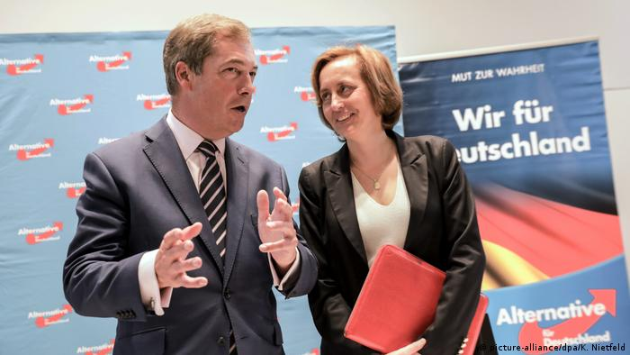 Beatrix von Storch and Nigel Farage