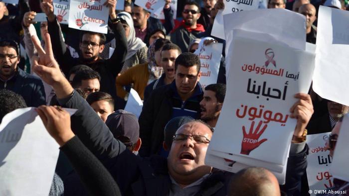 Protest in Nador Marokko