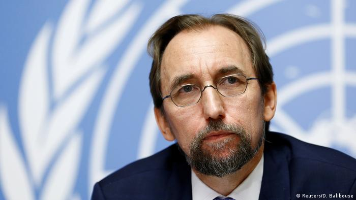 UN High Commissioner for Human Rights, Zeid Ra'ad al-Hussein (Reuters/D. Balibouse)