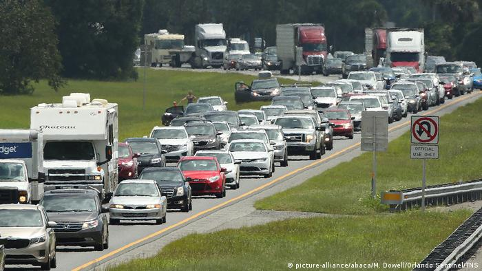 Hurricane Irma Evacuation Traffic Florida (picture-alliance/abaca/M. Dowell/Orlando Sentinel/TNS)