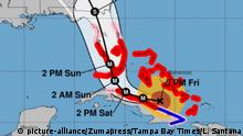 USA Hurrikan Irma Florida Karte