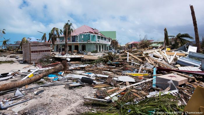 Damage from Hurricane irma on Saint Martin