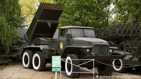 Katyushas on display in the Russian city of Saratov (picture-alliance/dpa/H.Brix)