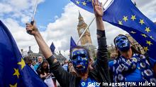 Großbritannien - Pro-EU Demonstranten beim People's March for Europe against Brexit in London