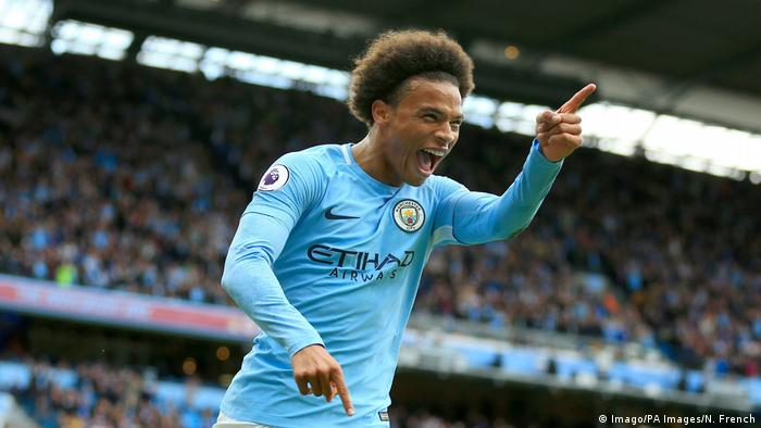 Fußball England Manchester City v Liverpool Premier League Etihad Stadium Manchester City s Leroy Sane celebrate (Imago/PA Images/N. French)