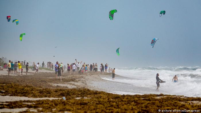 Florida Strand stürmische See (picture-alliance/Zumapress)