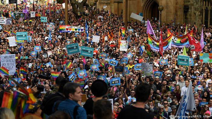 Australian march for same-sex marriage.