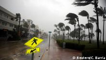 10.9.2017*** Heavy wind is seen along Ocean Drive in South Beach as Hurricane Irma arrives at south Florida, in Miami Beach, Florida, U.S., September 10, 2017. REUTERS/Carlos Barria