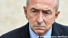 French Interior Minister Gerard Collomb leaves after the weekly cabinet meeting at the Elysee French presidential palace on September 6, 2017 in Paris. (Photo by Julien Mattia/NurPhoto)   Keine Weitergabe an Wiederverkäufer.
