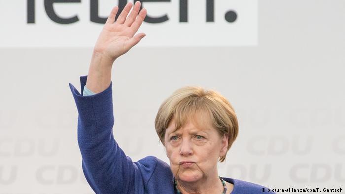 CDU-Wahlkampf mit Angela Merkel (picture-alliance/dpa/F. Gentsch)