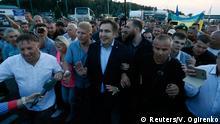 Ukraine Grenze Polen Krakovets Ankunft Micheil Saakaschwili