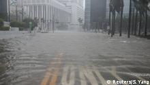 Flooding begins in the Brickell neighborhood as Hurricane Irma passes Miami, Florida, U.S. September 10, 2017. REUTERS/Stephen Yang