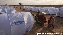 UNHCR tents at a refugee camp in Libya (picture-alliance/Photoshot)