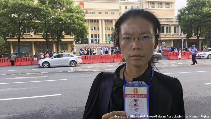 China Lee Ching-yu Prozess Lee Ming-Che (picture-alliance/AP Photo/Taiwan Association for Human Rights)