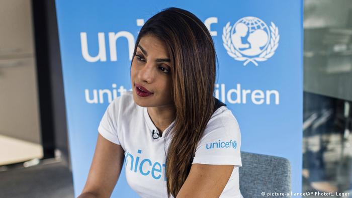 Jordanien Unicef Priyanka Chopra (picture-alliance/AP Photo/L. Leger)