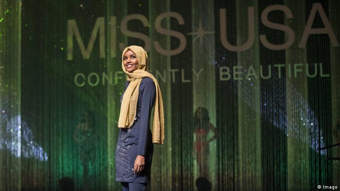 Bildergalerie Ex-Flüchtling Halima Aden wird Hijab Model in USA bei der Miss Wahl in USA (Imago)