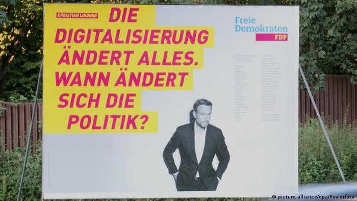 Передвиборчий плакат ВДП, Крістіан Лінднер