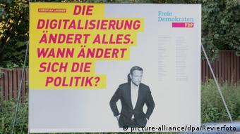Предвыборный плакат СвДП с Кристианом Линднером