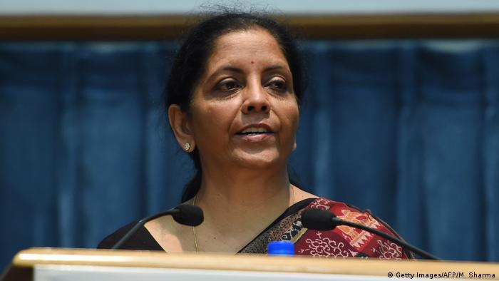 Indien Ministerin Nirmala Sitaraman (Getty Images/AFP/M. Sharma)