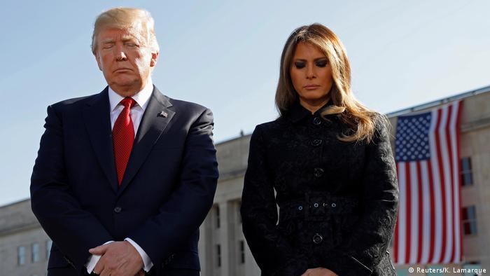 Trump e Melania em cerimônia do 11 de Setembro