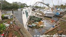 September 11 2017 Florida Brevard County Sundance Marine in Palm Hurrikan Irma
