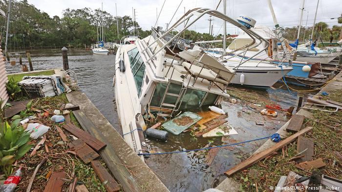 September 11 2017 Florida Brevard County Sundance Marine in Palm Hurrikan Irma (Imago/ZUMA Press/R. Huber)
