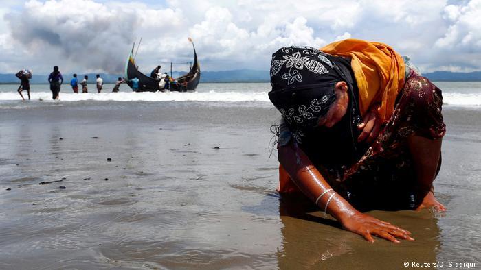Bangladesch Rohingya Flüchtling in Shah Porir Dwip