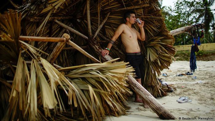 Bildergalerie Irma Folgeschäden Tourist in Varadero Kuba (Reuters/A. Meneghini)