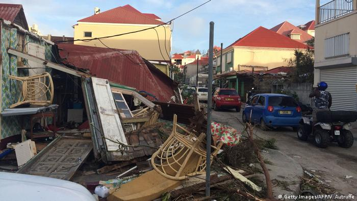 Bildergalerie Irma Folgeschäden Saint-Barthelemy (Getty Images/AFP/V. Autruffe)