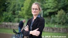Kandidatin von B90 / Die Grünen Viola von Cramon beim Wahlkampf in Osterode, Niedersachsen