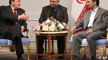 Iran Gerhard Schröder Mahmud Ahmadinedschad