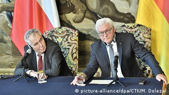 Almanya Cumhurbaşkanı Frank-Walter Steinmeier ve Çekya Cumhurbaşkanı Milos Zeman.