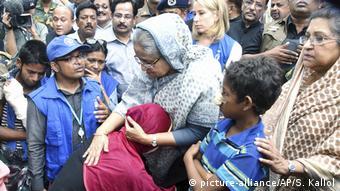Bangladesch Sheikh Hasina im Flüchtlingslager Kutupalong