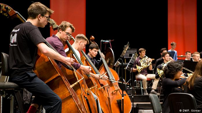 Campus-Projekt 2017: репетиція спильного молодіжного оркестру Німеччини і України у Бонні