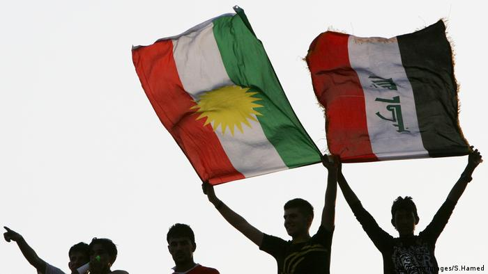 Flaggen Kurdistan Irak (Getty Images/S.Hamed)