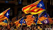 Katalonien Unabhängigkeit Demonstration Flaggen