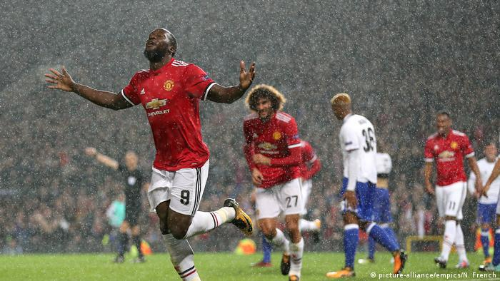 Champions League Manchester United v FC Base Lukaku (picture-alliance/empics/N. French)