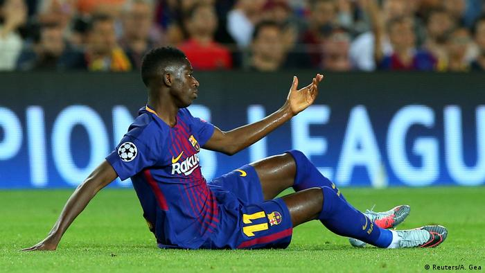 Champions League - FC Barcelona vs Juventus Dembele (Reuters/A. Gea)