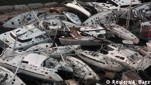Boats wrecked by Hurricane Irma are seen from a plane in Sint Maarten, Netherlands September 11, 2017. REUTERS/Alvin Baez TPX IMAGES OF THE DAY