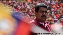14.08.2017 +++ CARACAS, VENEZUELA - AUGUST 14: Venezuela's President Nicolas Maduro attends a rally supporting him and opposing U.S. President Donald Trump, in Caracas, on August 14, 2017. Carlos Becerra / Anadolu Agency | Keine Weitergabe an Wiederverkäufer.