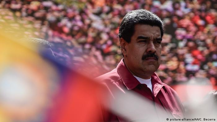 Venezuelan President Nicolas Maduro attends a rally in support of his mandate