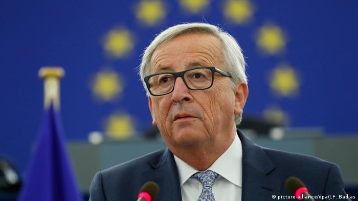Straßburg Rede von Jean-Claude Juncker (picture-alliance/dpa/J.F. Badias)