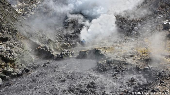 Super volcano in the Campi Flegrei area near Naples