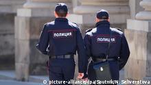 Russland | Polizisten in Moskau