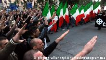 Italien Mailand Neonazi Demonstration