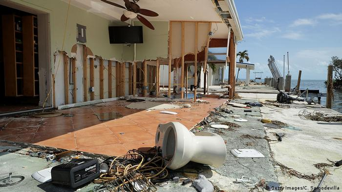 Waterfront homes stand exposed after being destroyed by Hurricane Irma (Getty Images/C. Somodevilla)